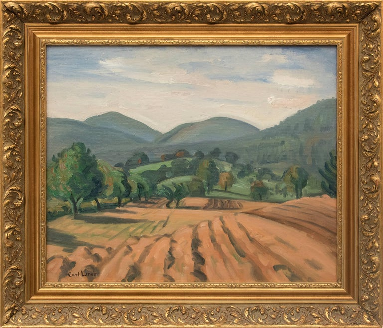 Carl Lindin Landscape Painting - Untitled (Ojai, California)