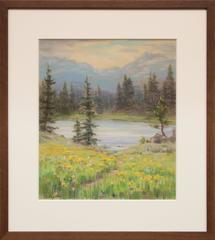 Untitled (Lake and Mountains, Near Estes Park, Colorado)
