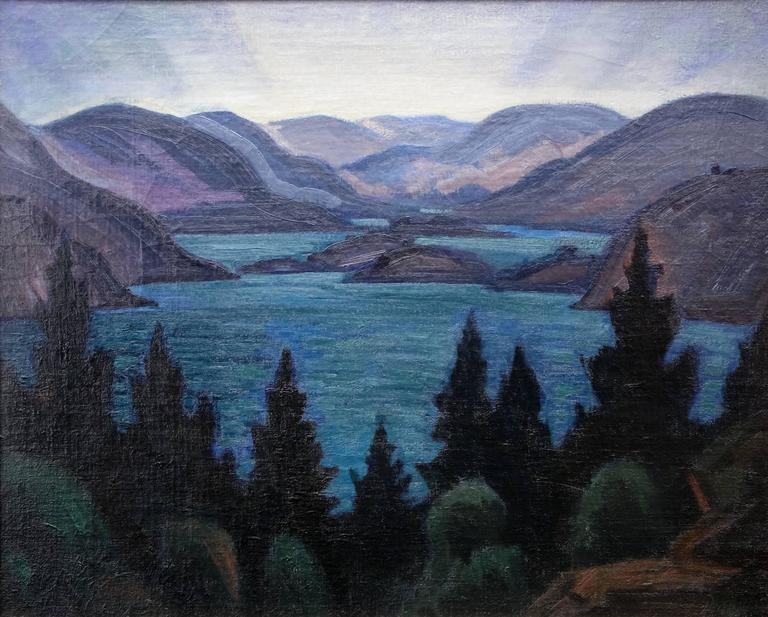 Fjords - Painting by Carl Lindin