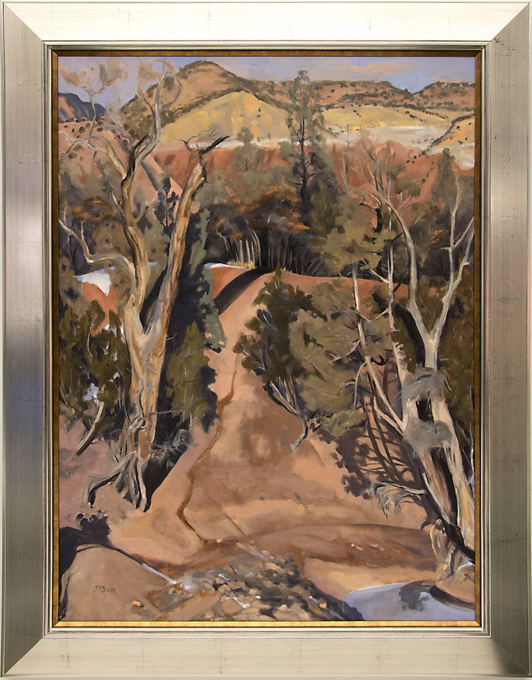 Joellyn Duesberry Landscape Painting - Winter Streambed, New Mexico (Ghost Ranch, Abiquiu)