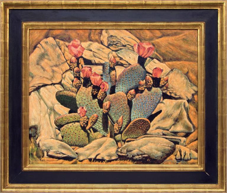 Frank J. Gavencky Still-Life Painting - Flowering Cactus