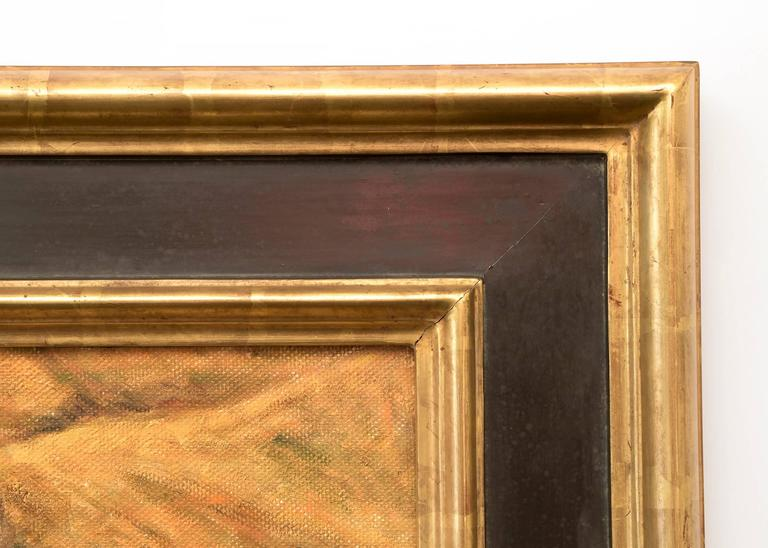 Framed dimensions are 33.5 x 39.5 inches.  Image measures 23.5 x 29 inches.  About the Artist: Raised in Chicago, Illinois, Frank Gavencky was a painter and a teacher. He was known for his landscapes, seascapes, street scenes, and desert scenes