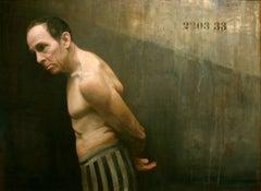 LOOKING BACK (SURVIVOR), holocaust survivor, hyper-realism, prisoner