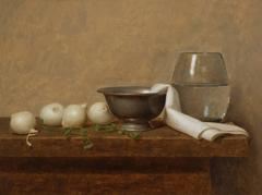 Still Life With White Onions and Oregano