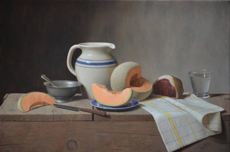 Justin Wood Cantaloupe And Prosciutto Painting For Sale