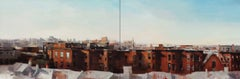 BROOKLYN SUMMERTIME (DIPTYCH), red brick buildings, nyc apartments, brooklyn