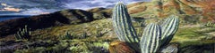 CALIFORNIA CACTUS, desert, cactus, nature landscape, green, brown