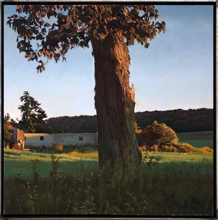 Trey Friedman Landscape Painting - Trees On A Line #100