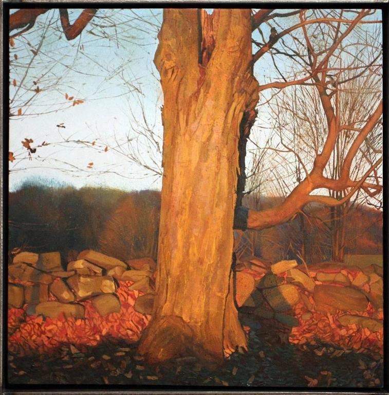 Trey Friedman Landscape Painting - Trees On A Line #140