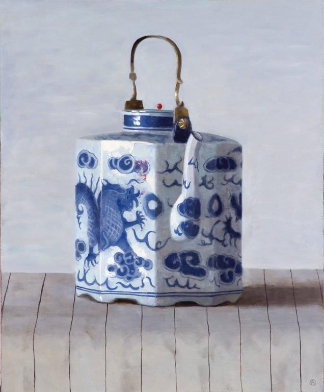 Dragon Teapot on Stripes