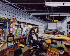 THE FOUNDER OF TERRACYCLE, portrait of man sitting in his office, multi-colored
