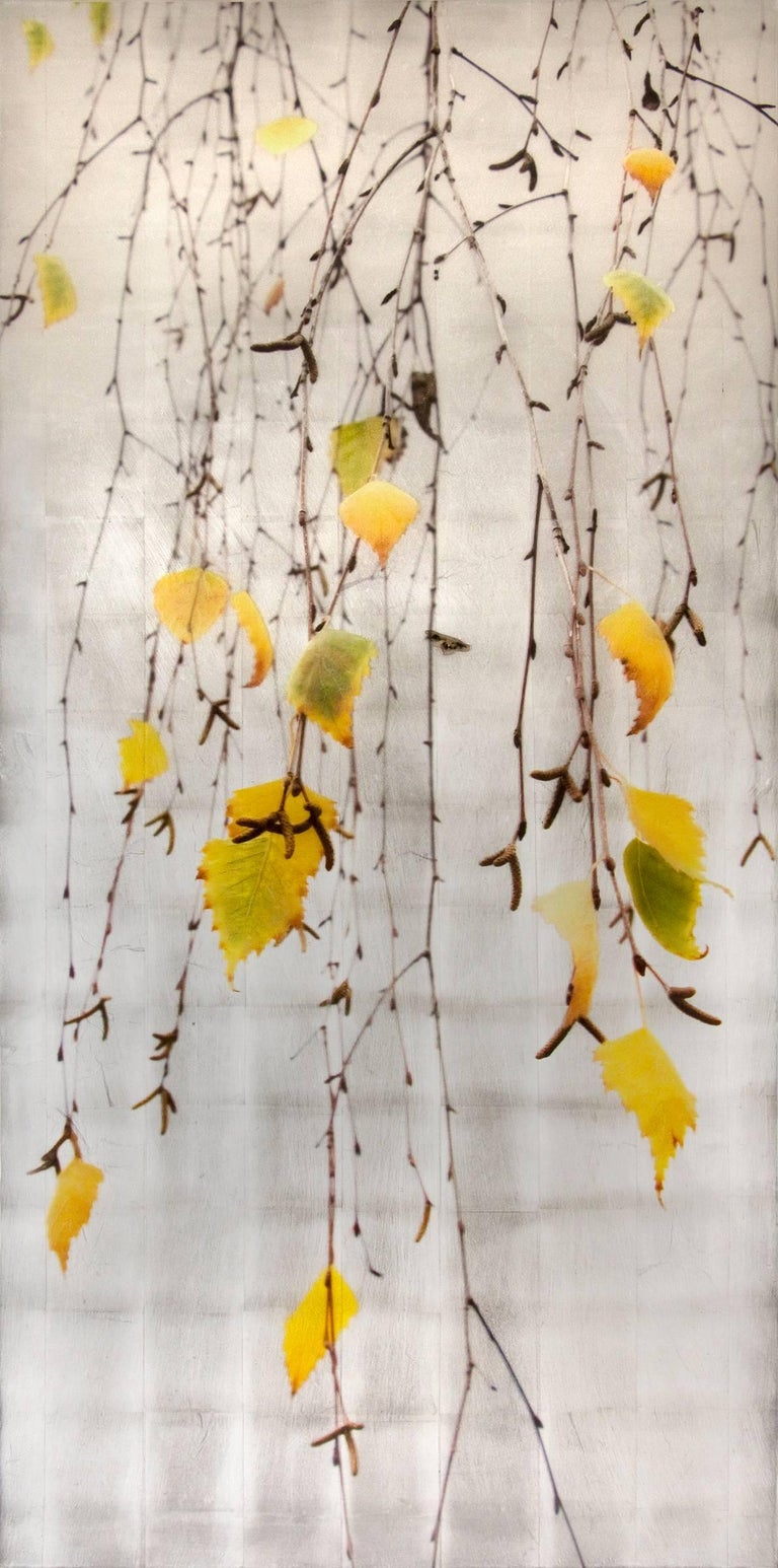 Autumn Echo - Mixed Media Art by Susan Goldsmith