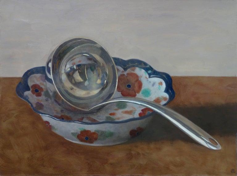 Ladle in Floral Bowl