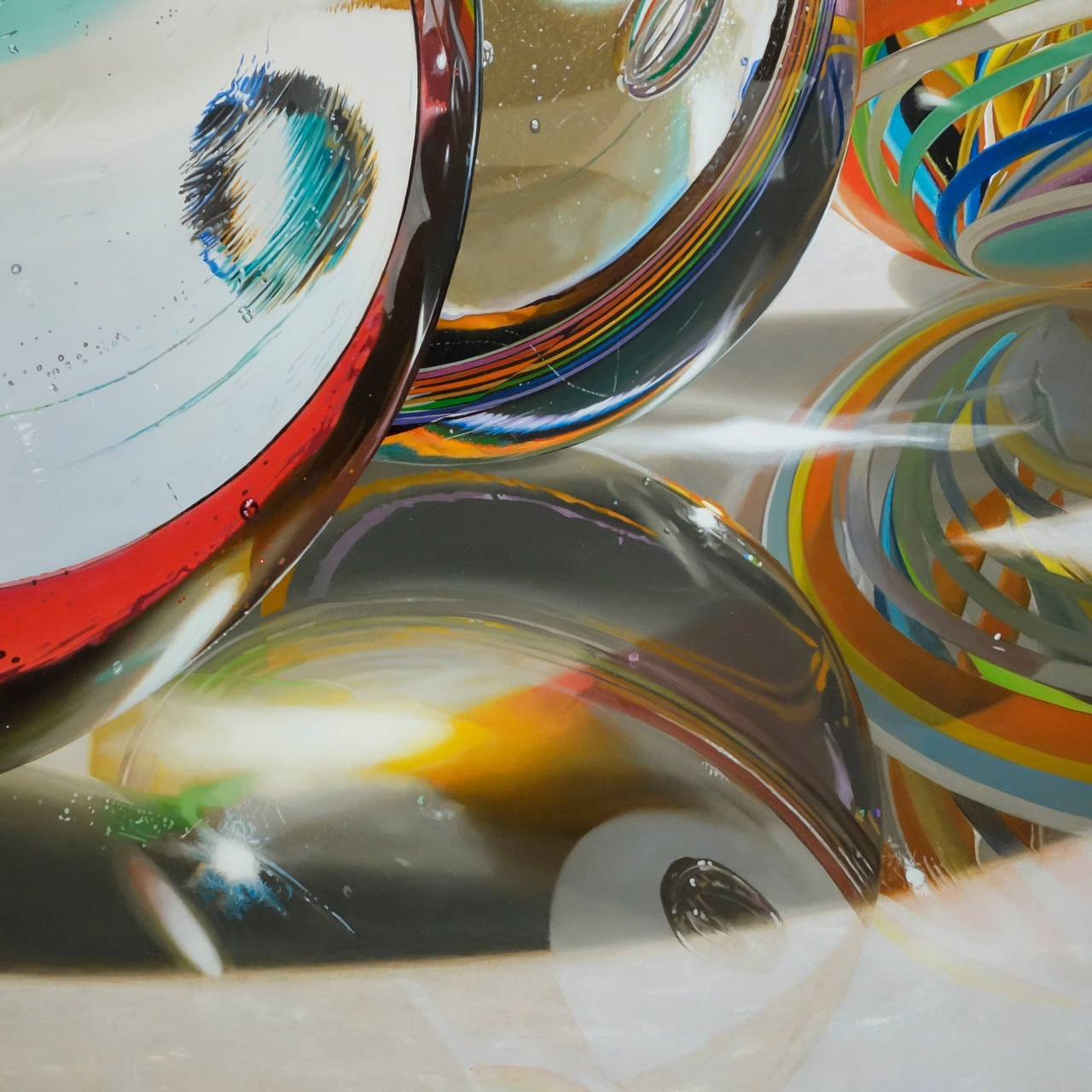 Photorealist artist Steve Mills paints extra large, excruciatingly detailed oil paintings depicting everyday objects like the Wall Street Journal and Glass Marbles.