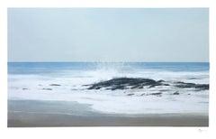 LAGUNA BEACH STUDY, coastline, waterscape, wave hitting rock, photo-realism