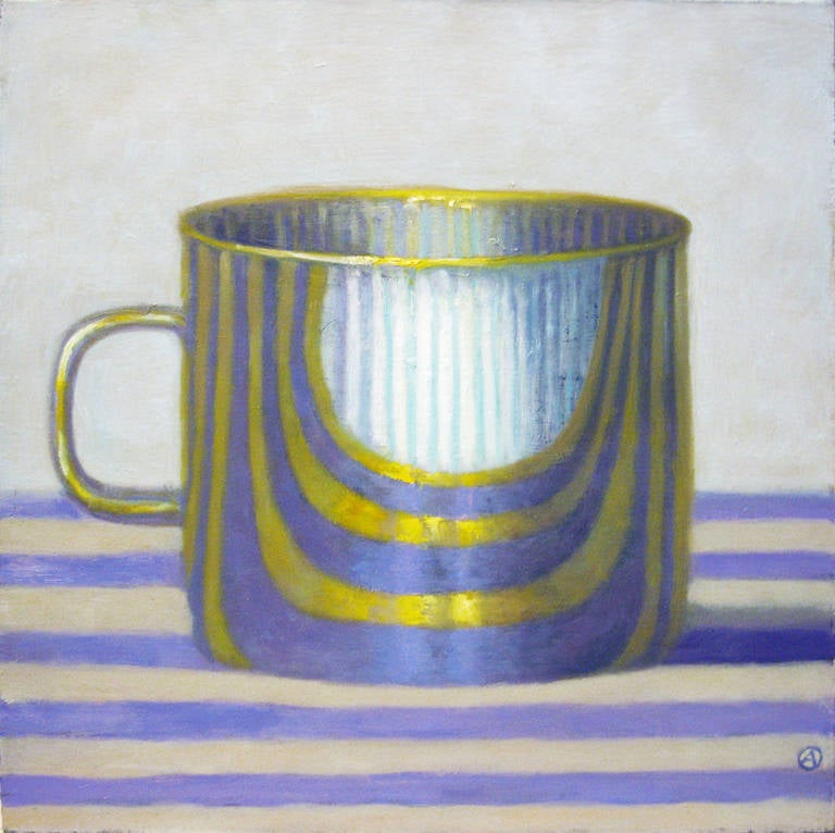 Gold Cup on Purple Stripes