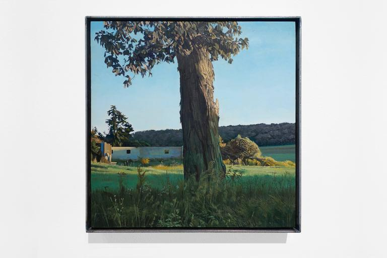 Trees On A Line #100 - Painting by Trey Friedman