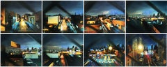 PULASKI CROSSING (8 PANELS), new york city skyline, landscape, photo-realism