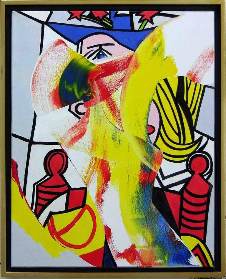 Athos Zacharias Abstract Painting - Triple Play
