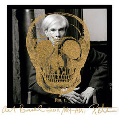Andy Warhol with Golden Skull