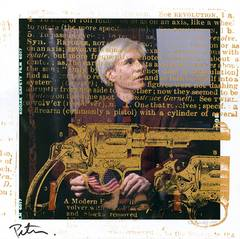 Andy Warhol with Golden Gun ft*Peter Tunney