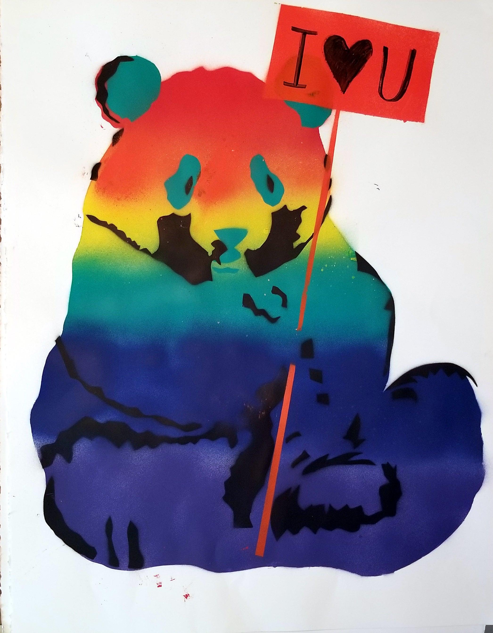 Panda: rainbow PROUD BEAR