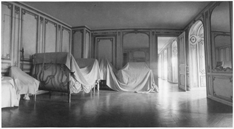 Deborah Turbeville Black and White Photograph - The Private Apartment of Madame du Barry at Versailles