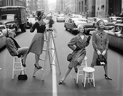 Stopping Traffic, Park Avenue South, Charm Magazine, ca. 1958