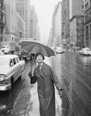 Carmen Under and Umbrella, New York, 1958