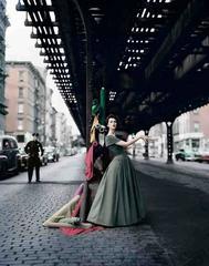 Dovima Under the El, Dior