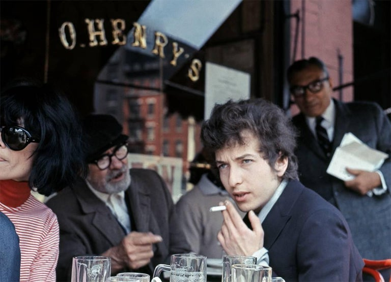 Daniel Kramer Portrait Photograph - Bob Dylan at O'Henry Cafe, New York