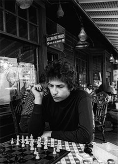 Bob Dylan Playing Chess, Woodstock, New York