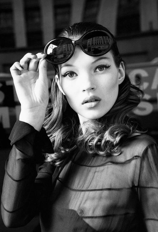 Kate Moss (Eyes Wide Open), Italian Harper's Bazaar, New York, 1992