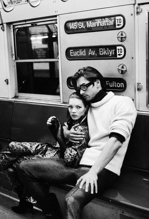 Kate Moss and Marcus Schenkenberg (The Revolution), New York