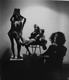 Unknown (Dali, A Seated Dwarf, And Models On Pedestal)