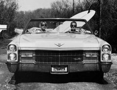 David and Pam in their Caddy, Trailer Park, Montauk, New York