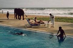 Tourists Lounge Poolside, Sri Lanka