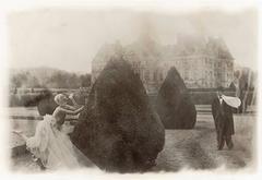 Rosima in Comme des Garçons at Vaux le Vicomte, France, for Parco