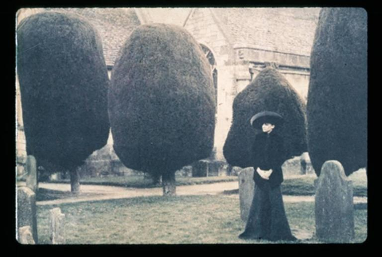 Deborah Turbeville Color Photograph - Selina Blow, Painswick Cemetery, England