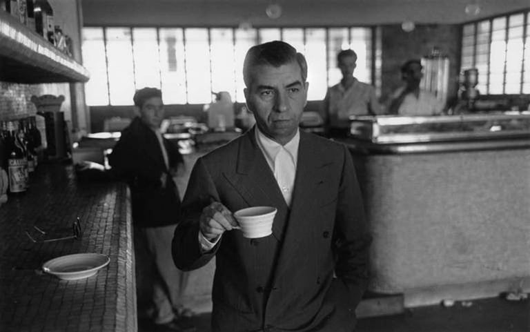Slim Aarons Black and White Photograph - Charles (Lucky) Luciano, Sicily, Italy