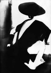 Black - With One White Glove: Barbara Mullen, Dress by Christian Dior, New York