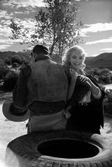 """Marilyn Monroe on location during the filming of """"The Misfits"""", Reno, Nevada"""
