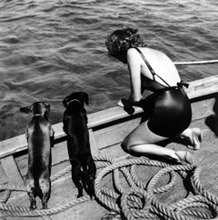 Toni Frissell - Woman with Two Dachshunds