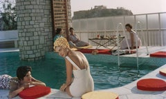 Penthouse Pool, 1961: Young women by the Canellopoulos penthouse pool, Athens