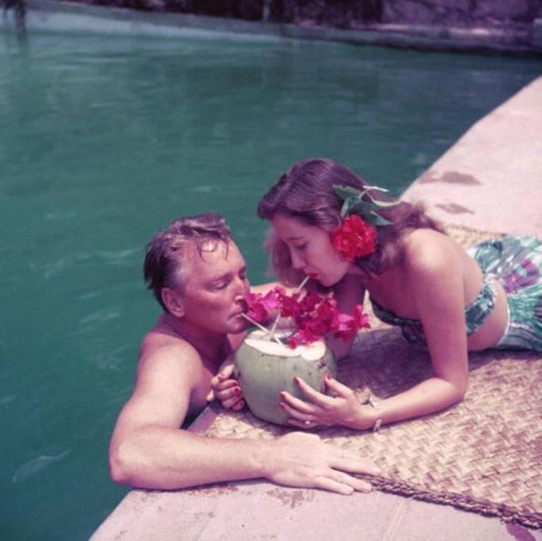 Slim Aarons Color Photograph - Coconut Cocktail