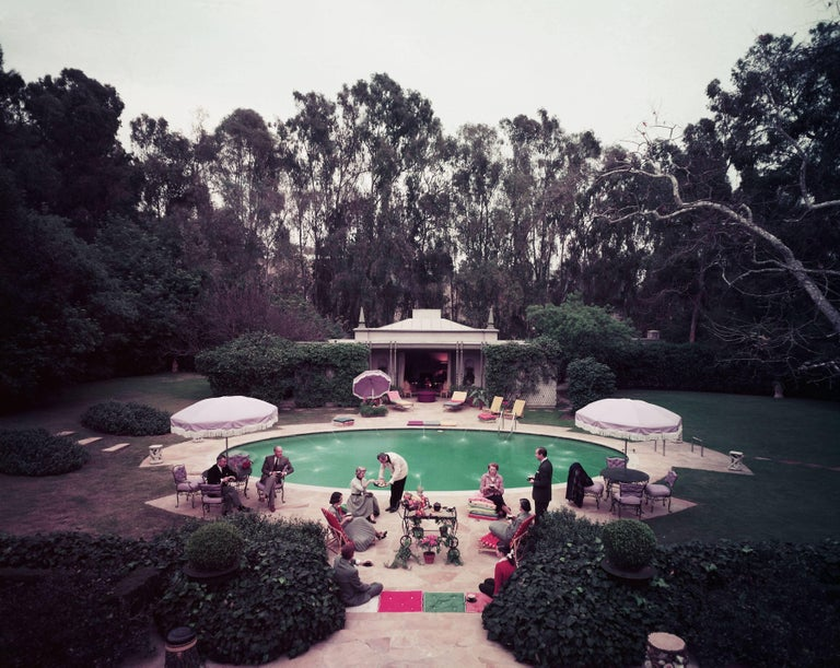 Slim Aarons Color Photograph - Scone Madam?