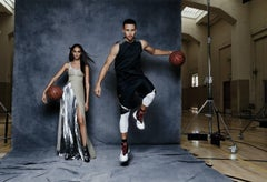 Joan Smalls and Steph Curry, California, Vogue
