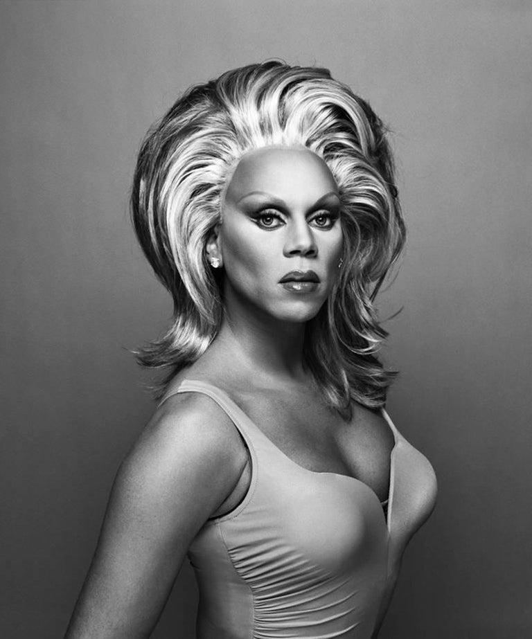 Patrick Demarchelier Black and White Photograph - Rupaul