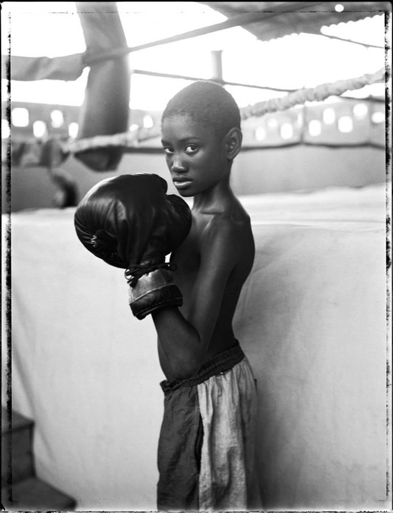 Patrick Demarchelier Black and White Photograph - Boxing Gym, Cuba