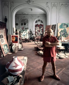 Picasso in his Studio, Cannes